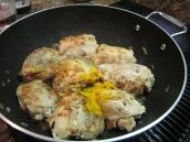 Add salt, pepper and turmeric.