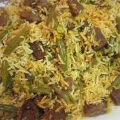 Estamboli Polo (Green Beans Rice)