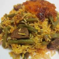 Estamboli Polo (Green Bean Rice)