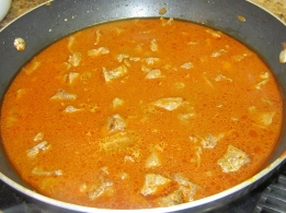 Add 3 cups of water, cover and bring to boil. Lower heat to medium low and cook for 1 hour.