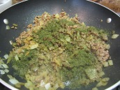 Add ½ teaspoon dried dill and cook until meat browns, about 3 minutes.