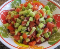 Cucumber and Tomato Salad (Persian Salad)