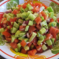 Cucumber and Tomato Salad (Persian Salad)