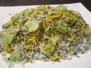Baghali Polo (Fava Bean and Dill Rice)