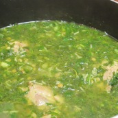 Bring to a boil. Lower heat to medium low, cook for 1 hour.