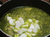 Add chopped turnips, cook for 30 to 40 minutes or until the turnips are cooked.