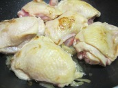 Add chicken, slightly brown on both sides for about 5 to 7 minutes.