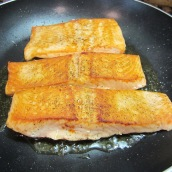 Turn the salmons over; cook 3 more minutes or until they feels firm to the touch.