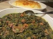 Khoresht Esfenaj and Aloo (Spinach Stew)