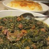 Khoresht Esfenaj and Aloo (Spinach Stew)