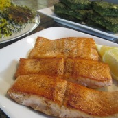 Try salmon with sabzi polo (herb rice).