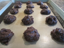 Drop by tablespoonfuls onto the baking sheet spreading them apart.
