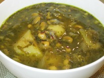 Vegetarian Abgoosht Bozbash (Herbs Abgoosht)