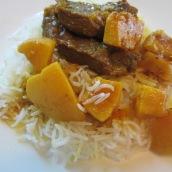 Serve over basmati rice.