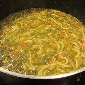 Cook over medium-low heat for 30 minutes, stirring occasionally. Do not cover.