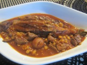 Khoresht Gheymeh Bademjan (Yellow Split Peas and Eggplant Stew)