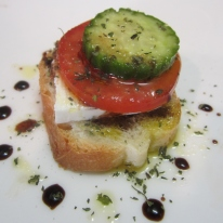 Feta Cheese Tomato and Cucumber Appetizer