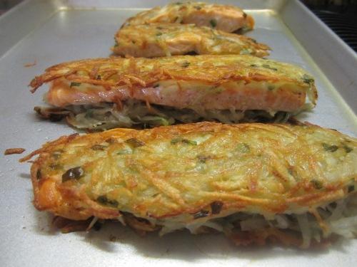 Potato crusted salmon masteringpersiancooking for Potato crusted fish