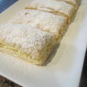 Transfer to a serving platter. Sprinkle powder sugar on top.