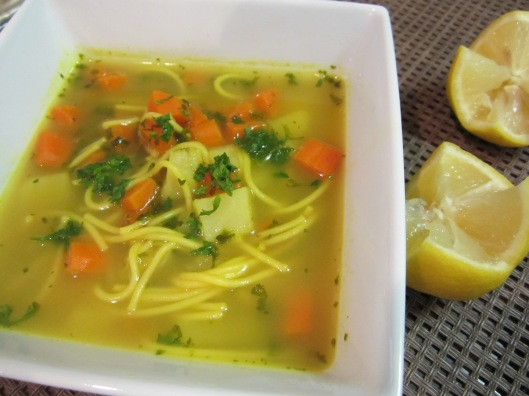 Noodle Soup With Chicken Stock