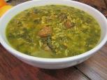 Ash Aloo Esfenaj (Prune and Spinach Soup)