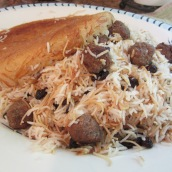 Reshteh Polo with Meatballs (Noodle Rice)