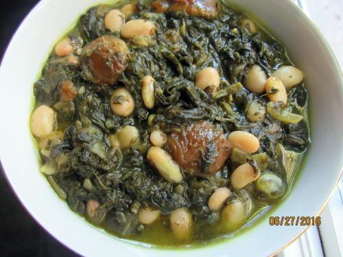 Vegetarian Khoresht Esfenaj Aloo