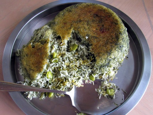Rice Cooker Baghali Polo (Fava Bean and Dill Rice)