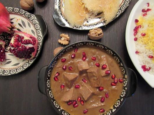 Vegetarian Khoresht Fesenjan (Pomegranate Walnut Stew)