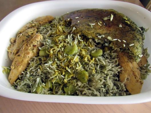 Rice Cooker Baghali Polo