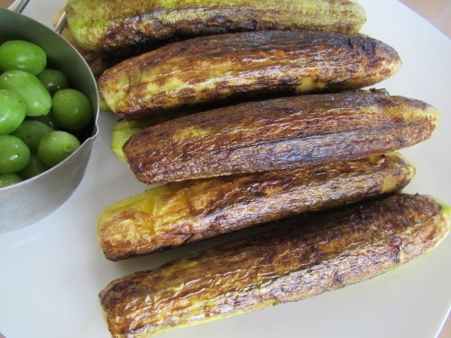 Frying zucchinis